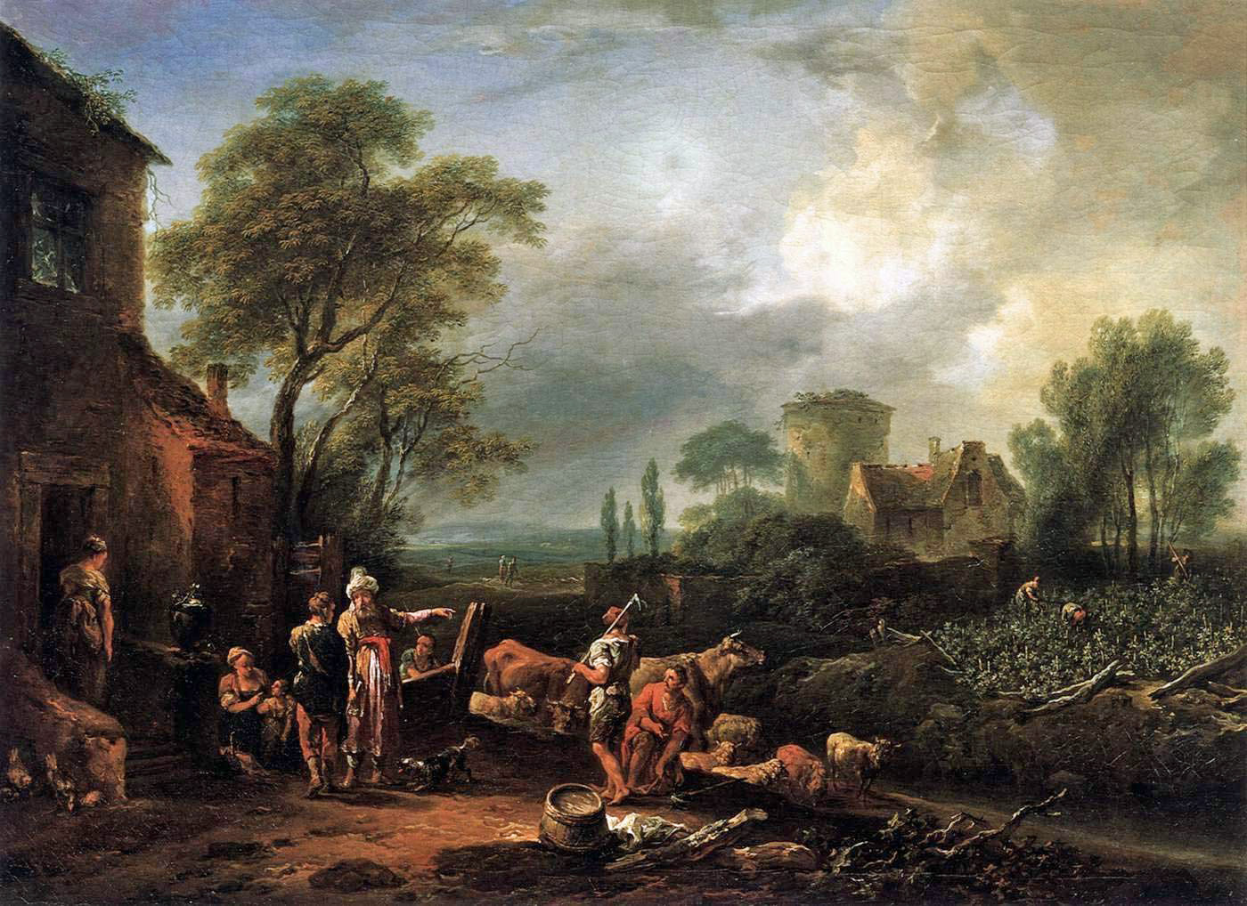 The parable of the workers in the vineyard by Austrian painter Johann Christian Brand (1722-1795).
